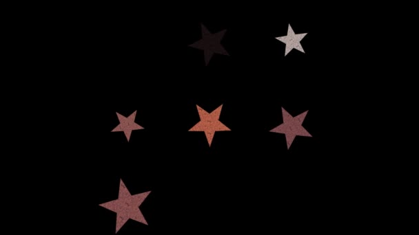 Estrellas en el cielo nocturno — Vídeo de stock