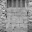 Textured wall bricked up window — Stock Photo #25220983