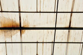 Stains on glasshouse roof — Stock Photo