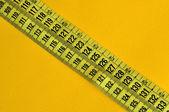 Plastic tape measure — Stock Photo