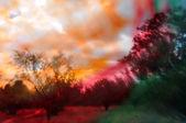 Bunte abstrakte landschaft — Stockfoto
