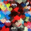 Colorful hearts pattern illustration — Stock Photo #28500801