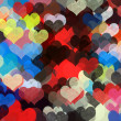 Colorful hearts pattern illustration — Stock Photo