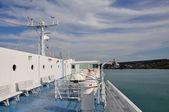 Ship deck horizon — Stock Photo