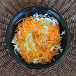 Cabbage and carrot salad — Stok fotoğraf