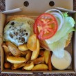 Takeaway burger with fries — Stock Photo #31735581