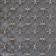 Vintage iron door with circles pattern — Stock Photo
