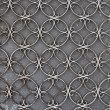 Vintage iron door with circles pattern — Stok fotoğraf