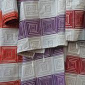 ткань с узором квадраты — Стоковое фото