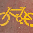 Bicycle stencil — Stock Photo