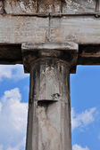 Doric column and faded inscription — Stock Photo