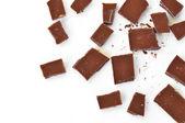 Pieces of milk chocolate — Stock Photo