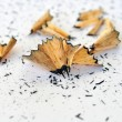 Pencil shavings background — Foto de Stock