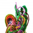 Colorful tangled threads — Stock fotografie
