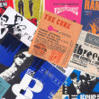 Постер, плакат: Rock music vintage concert tickets