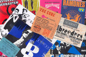 Rock music vintage concert tickets — Stockfoto