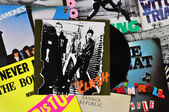 Punk vinyl records — Foto Stock
