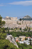View of the acropolis from philopappos hill — Stock Photo