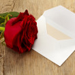 Letter and rose — Stock Photo #12160630