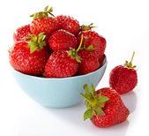 Bowl of strawberries — Stockfoto