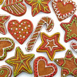 colorful gingerbread cookies — Stock Photo