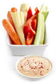 Fresh vegetables and taco dip — Stock Photo