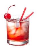 Red alcoholic cocktail — Stock Photo