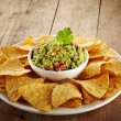 Guacamole dip and nachos — Stock Photo #39694977