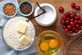 Cake ingredients — Stock Photo