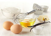Ingredients for baking cake — Stock Photo
