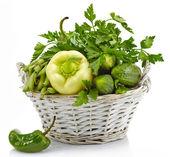Verse groene groenten — Stockfoto