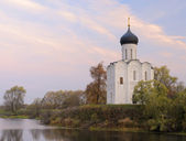 Church of the Intercession on the River Nerl in autumn — Stock Photo