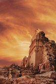 Starověké město petra — Stockfoto