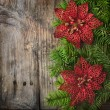 Christmas Wooden Background — Stockfoto