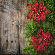 Christmas Wooden Background — Stock Photo