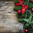Christmas Wooden Background — Foto de Stock