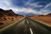Road in the desert — Stock Photo