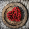 Royalty-Free Stock Photo: Heart on Plate