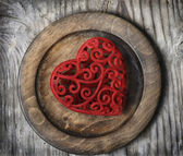 Heart on Plate — Stock Photo
