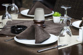 Restaurace tabulka — Stock fotografie