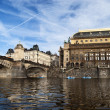 Prague from Vltava — Foto Stock