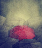 Rött paraply — Stockfoto