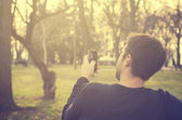 Man with smart phone  — Stock Photo