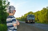 автомобилей и мальчик — Стоковое фото