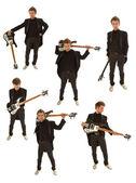 гитарист в смокинге — Стоковое фото