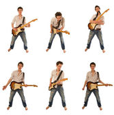 Гитарист в рубашке — Стоковое фото