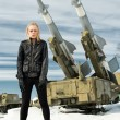 Girl and ballistic missile — Stock Photo #22835672