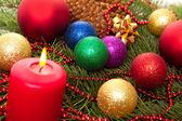 Cônes de sapin Noël boules — Photo