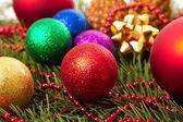 Christmas balls fir cones — Стоковое фото