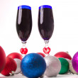 Goblet, wine, spirits for Christmas Valentine's Day — Stock Photo #37425293